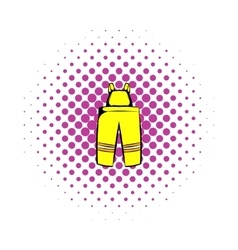Firefighter pants icon comics style vector image