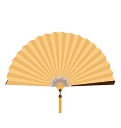 gold fan vector image