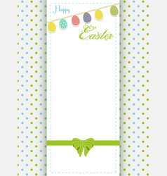 happy easter greeting card an eggs bunting vector image