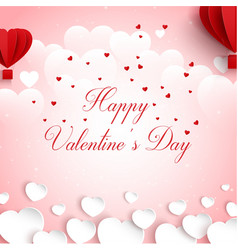 happy valentines day greeti vector image