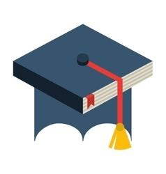 Hat graduation uniform icon vector