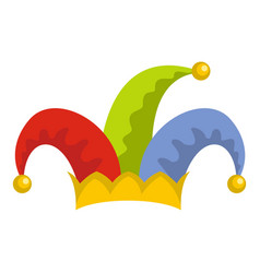 Humor jester icon flat style vector