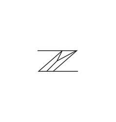 initial letter z y logo template alphabet symbol vector image