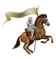 knight with spear and banner vector image