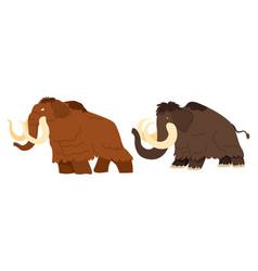 Mammoth extinct prehistoric animal with tusks vector