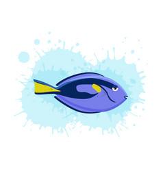 marine life tropical colorful fish set vector image