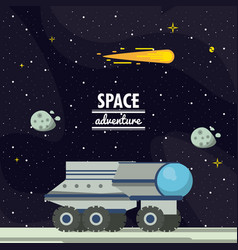 mars space adventure vector image