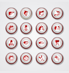 Medical icons on white background elements vector