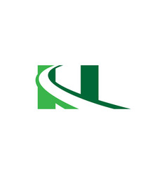 n letter road construction creative symbol layout vector image