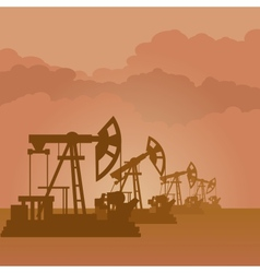 Oil pumps vector
