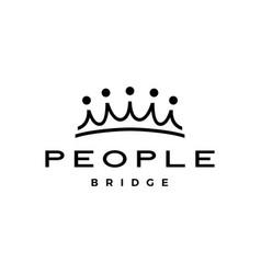 people bridge crown group five 5 community family vector image