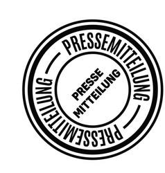 Press release stamp in german vector