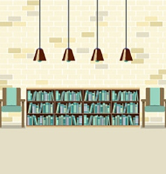 Reading Seats With Bookcase vector