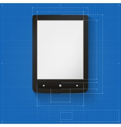 Realistic e-book on drawing grid vector