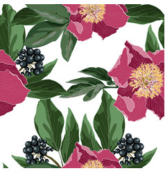 repeating background with floral elements vector image