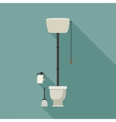 Retro toilet vector image