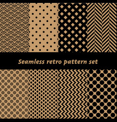retro wrapping papers seamless pattern vector image