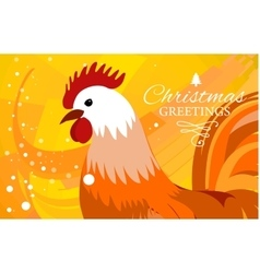 Rooster 2017 Chinese New Year greeting card vector