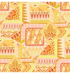 Seamless asian ethnic floral doodle background vector