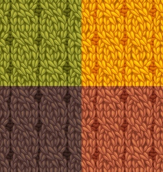 Seamless cables front patterns set vector