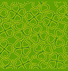 seamless green clover vector image