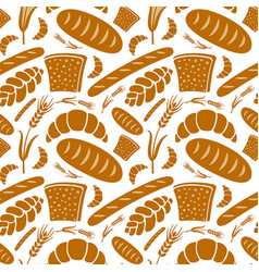 seamless pattern bakery vector image