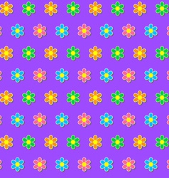 Seamless pattern Colorful flower background vector image