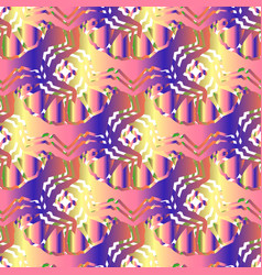 Seamless pattern with colorful ornament vector