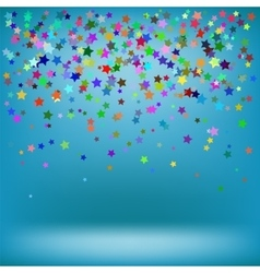 Set of colorful stars on azure background vector
