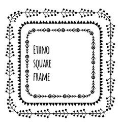 Set square black print tribal frames from vector