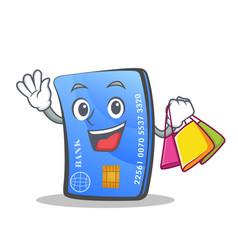 Shopping credit card character cartoon vector