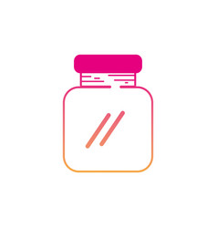 Silhouette glass and crystal jar object to save vector