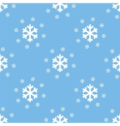 Snow seamless pattern vector image