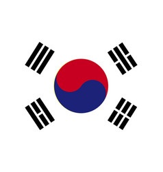 South korea flag vector