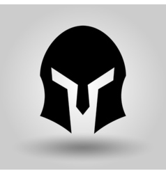 Spartans Helmets full face silhouette vector