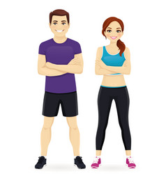 sport man and woman vector image