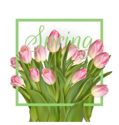 Spring cheerful tulip design EPS 10 vector