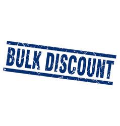 Square grunge blue bulk discount stamp vector