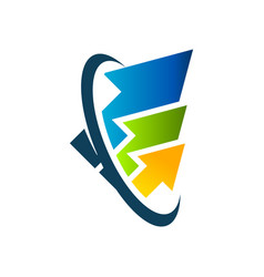 swoosh arrows logo icon vector image