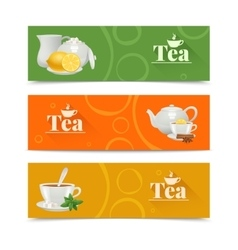 Tea Banners Set vector image