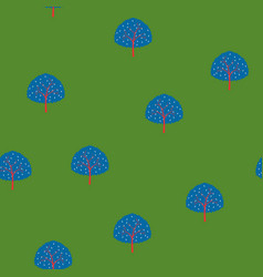 trees summer forest pattern vector image