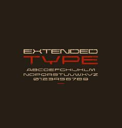 ultra expanded geometric sans serif font vector image
