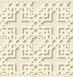 white paper geometric arabic pattern vector image
