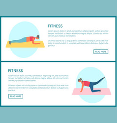 Women doing exercise on mat web pumping vector