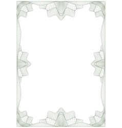 guilloche frame vector image vector image