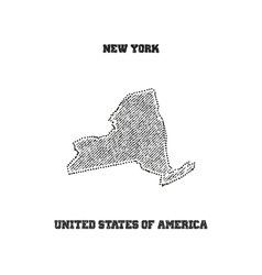 Label with map of new york vector image