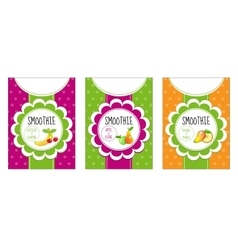 Labels set smoothies vector image vector image