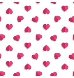 Pink hearts pattern vector image