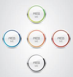 Press Me button vector image vector image