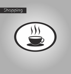 black and white style icon logo coffee cup vector image